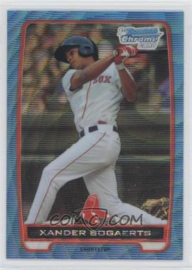 2012 Bowman Redemption Chrome Prospects Refractor Blue Wave #BCP105 - Xander Bogaerts
