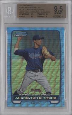 2012 Bowman Redemption Chrome Prospects Refractor Blue Wave #BCP109 - Andrelton Simmons [BGS9.5]
