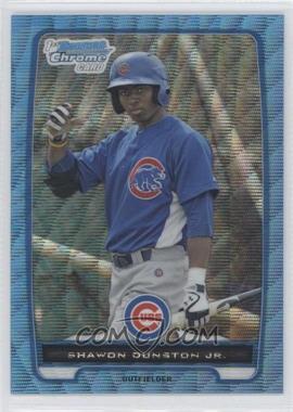 2012 Bowman Redemption Chrome Prospects Refractor Blue Wave #BCP117 - Shawon Dunston Jr