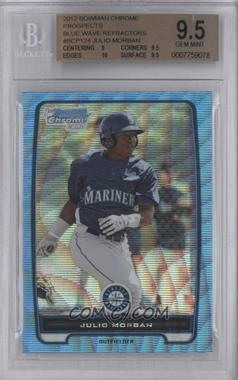 2012 Bowman Redemption Chrome Prospects Refractor Blue Wave #BCP124 - Julio Morban [BGS 9.5]