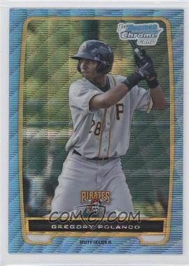 2012 Bowman Redemption Chrome Prospects Refractor Blue Wave #BCP182 - Gregory Polanco