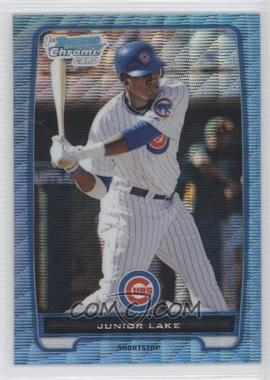 2012 Bowman Redemption Chrome Prospects Refractor Blue Wave #BCP213 - Junior Lake