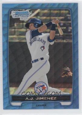 2012 Bowman Redemption Chrome Prospects Refractor Blue Wave #BCP5 - A.J. Jimenez