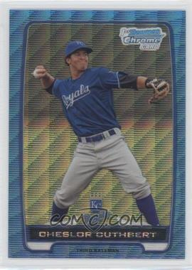 2012 Bowman Redemption Chrome Prospects Refractor Blue Wave #BCP58 - Cheslor Cuthbert