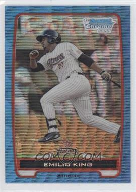 2012 Bowman Redemption Chrome Prospects Refractor Blue Wave #BCP65 - Emilio King