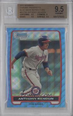 2012 Bowman Redemption Chrome Prospects Refractor Blue Wave #BCP88 - Anthony Rendon [BGS 9.5]