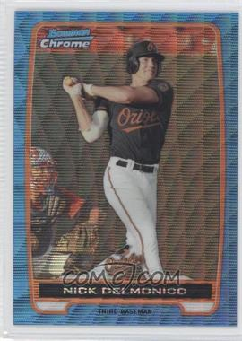 2012 Bowman Redemption Chrome Prospects Refractor Blue Wave #BCP92 - Nick Delmonico