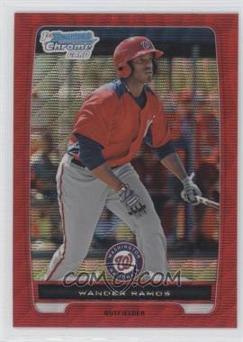 2012 Bowman Redemption Chrome Prospects Refractor Red Wave #BCP166 - Wander Ramos /25