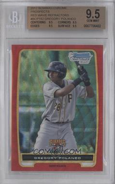 2012 Bowman Redemption Chrome Prospects Refractor Red Wave #BCP182 - Gregory Polanco /25 [BGS9.5]