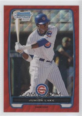 2012 Bowman Redemption Chrome Prospects Refractor Red Wave #BCP213 - Junior Lake /25