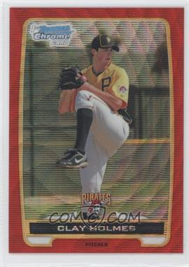 2012 Bowman Redemption Chrome Prospects Refractor Red Wave #BCP77 - Clay Holmes /25