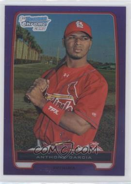 2012 Bowman Retail Chrome Prospects Purple Refractor #BCP158 - Anthony Garcia /199