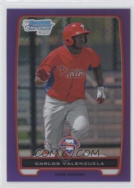 2012 Bowman Retail Chrome Prospects Purple Refractor #BCP165 - Carlos Valenzuela /199