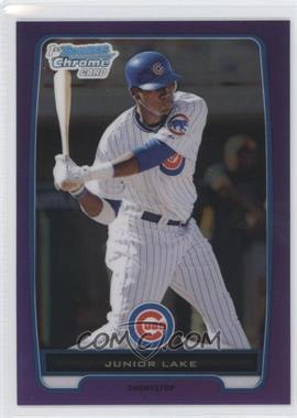 2012 Bowman Retail Chrome Prospects Purple Refractor #BCP213 - Junior Lake /199