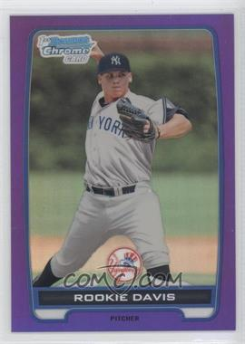 2012 Bowman Retail Chrome Prospects Purple Refractor #BCP43 - Rookie Davis /199