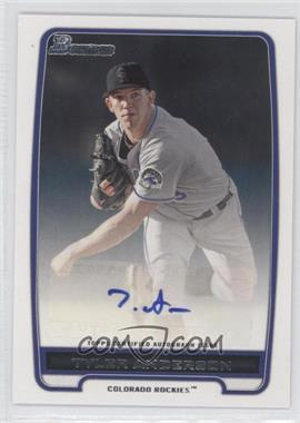 2012 Bowman Retail Prospect Certified Autographs [Autographed] #BPA-TA - Tyler Anderson