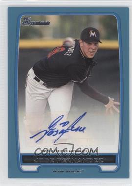 2012 Bowman Retail Prospect Certified Autographs Blue [Autographed] #BBA-JF - Jose Fernandez /500