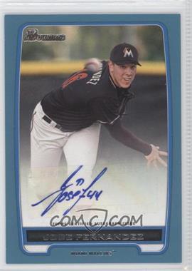 2012 Bowman Retail Prospect Certified Autographs Blue [Autographed] #BPA-JF - Jose Fernandez /500