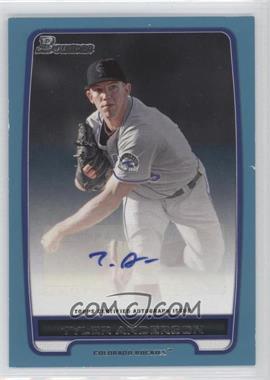 2012 Bowman Retail Prospect Certified Autographs Blue [Autographed] #BPA-TA - Tyler Anderson /500