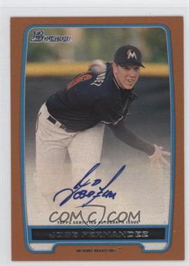 2012 Bowman Retail Prospect Certified Autographs Orange [Autographed] #BBA-JF - Jose Fernandez /250