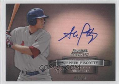 2012 Bowman Sterling - Autograph - Black Refractor #BSAP-SP - Stephen Piscotty /25