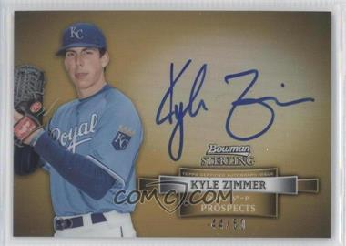 2012 Bowman Sterling - Autograph - Gold Refractor #BSAP-KZ - Kyle Zimmer /50