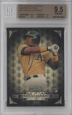 2012 Bowman Sterling - [Base] - Superfractor #30 - Yoenis Cespedes /1 [BGS 9.5]