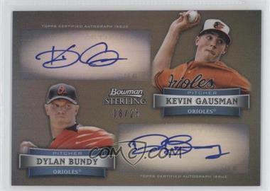 2012 Bowman Sterling - Dual Autographs - Black Refractor #DA-GB - Kevin Gausman, Dylan Bundy /25