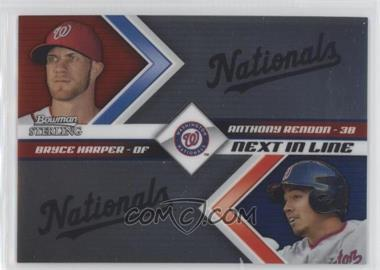 2012 Bowman Sterling - Next in Line #NIL3 - Bryce Harper, Anthony Rendon