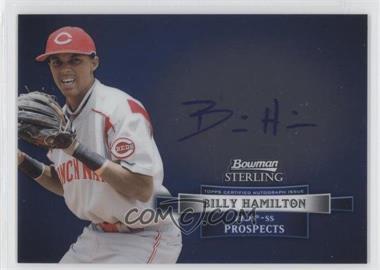2012 Bowman Sterling Autographed Prospects [Autographed] #BSAP-BH - Billy Hamilton