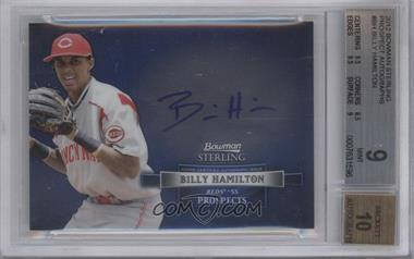 2012 Bowman Sterling Autographed Prospects [Autographed] #BSAP-BH - Billy Hamilton [BGS 9]