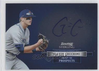 2012 Bowman Sterling Autographed Prospects [Autographed] #BSAP-GC - Gavin Cecchini