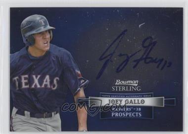 2012 Bowman Sterling Autographed Prospects [Autographed] #BSAP-JGA - Joey Gallo