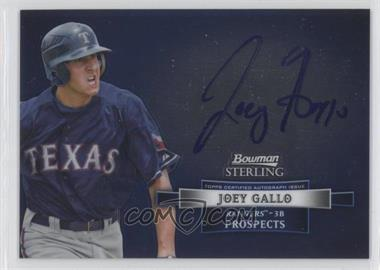 2012 Bowman Sterling Autographed Prospects [Autographed] #BSAP-JGA - Joey Gallo