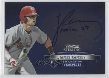2012 Bowman Sterling Autographed Prospects [Autographed] #BSAP-JR - James Ramsey