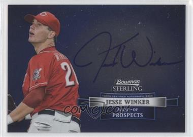 2012 Bowman Sterling Autographed Prospects [Autographed] #BSAP-JWI - Jesse Winker
