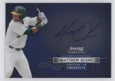2012 Bowman Sterling Autographed Prospects [Autographed] #BSAP-MO - Matt Olson