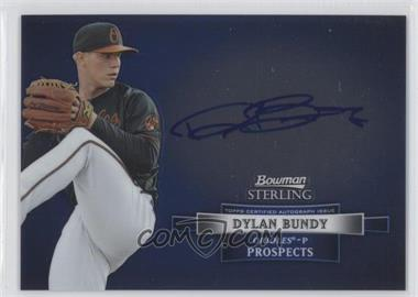 2012 Bowman Sterling Autographed Prospects #BSAP-DB - Dylan Bundy