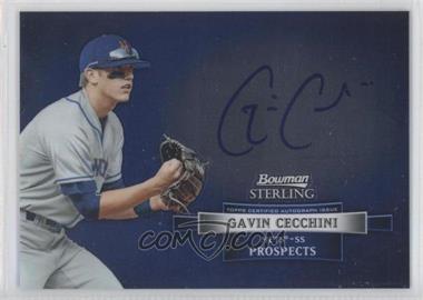 2012 Bowman Sterling Autographed Prospects #BSAP-GC - Gavin Cecchini
