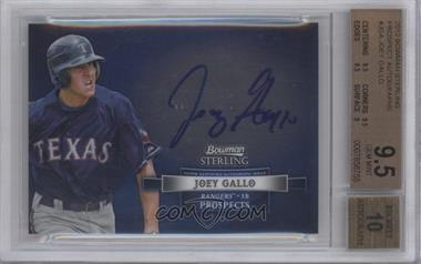 2012 Bowman Sterling Autographed Prospects #BSAP-JGA - Joey Gallo [BGS 9.5]