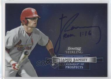 2012 Bowman Sterling Autographed Prospects #BSAP-JR - James Ramsey