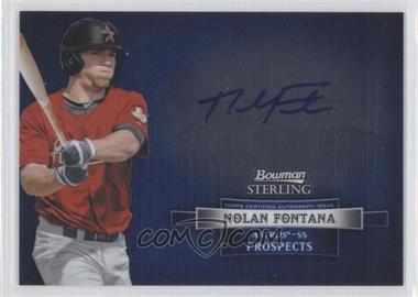 2012 Bowman Sterling Autographed Prospects #BSAP-NF - Nolan Fontana