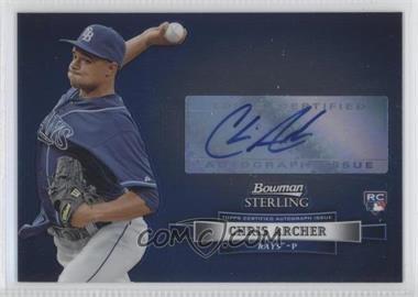 2012 Bowman Sterling Autographed Rookie [Autographed] #BSAR-CA - Chris Archer