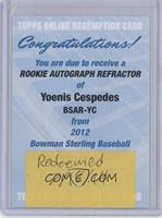 Yoenis Cespedes [REDEMPTION Being Redeemed]