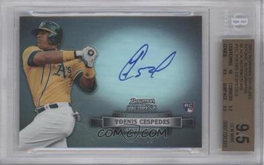 2012 Bowman Sterling Autographed Rookie Black Refractor #BSAR-YC - Yoenis Cespedes /25 [BGS 9.5]