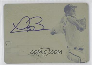2012 Bowman Sterling Autographed Rookie Printing Plate Yellow #BSAR-TB - Trevor Bauer /1