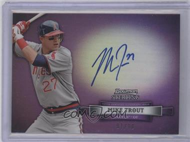 2012 Bowman Sterling Autographed Rookie Purple Refractor #BSAR-MT - Mike Trout /10