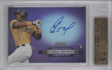 2012 Bowman Sterling Autographed Rookie Purple Refractor #BSAR-YC - Yoenis Cespedes /10 [BGS 9.5]