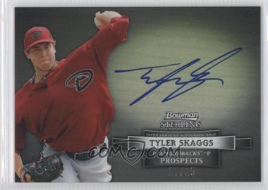 2012 Bowman Sterling Autographs Refractor Black #BSAP-TS - Tyler Skaggs /25