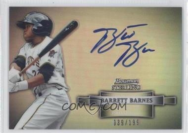 2012 Bowman Sterling Autographs Refractor #BSAP-BB - Barrett Barnes /199